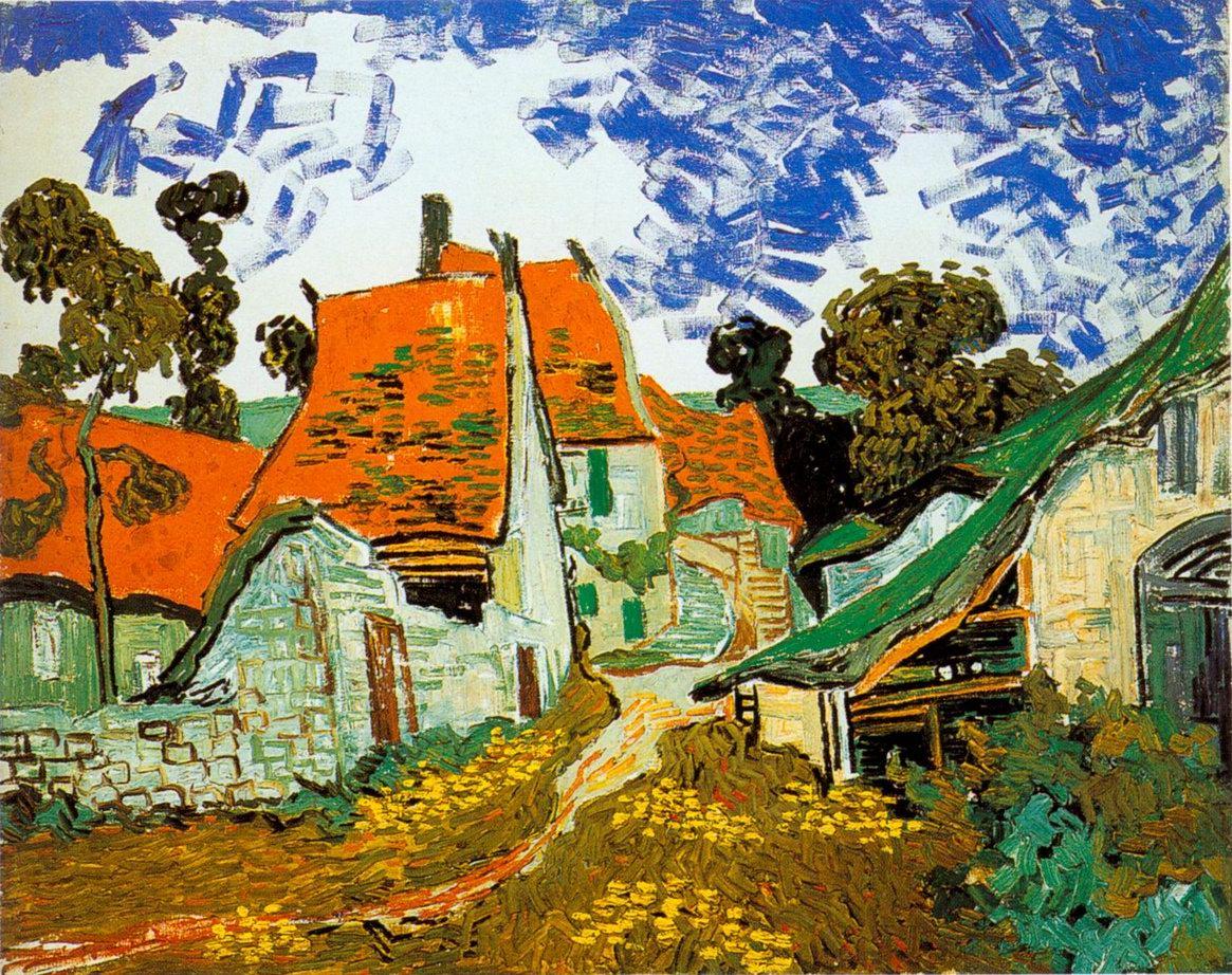 Street in Auvers Vincent Van Gogh